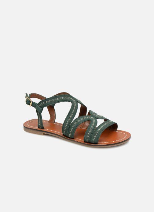 Sandals Monoprix Femme Sandales Green detailed view/ Pair view