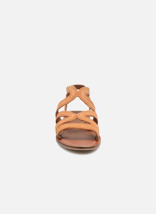 Sandales et nu-pieds Monoprix Femme Sandales Marron vue portées chaussures
