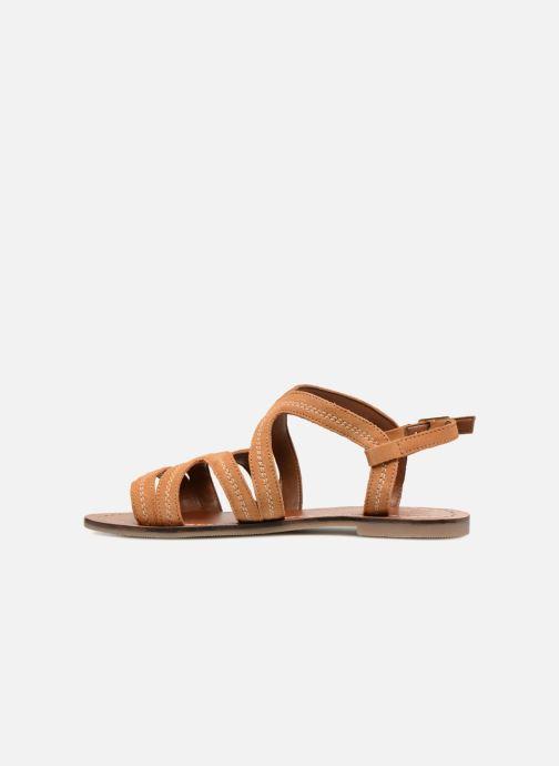 Sandals Monoprix Femme Sandales Brown front view