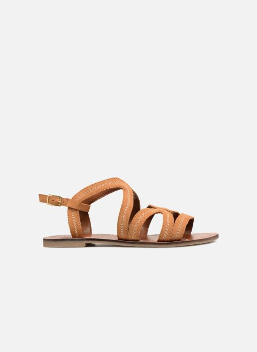 Sandals Monoprix Femme Sandales Brown back view