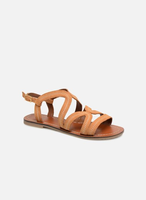 Sandals Monoprix Femme Sandales Brown detailed view/ Pair view