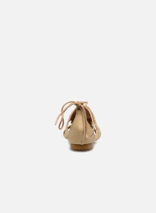 Sandales et nu-pieds Monoprix Femme Sandales texturées crochet Beige vue droite