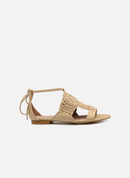 Sandals Monoprix Femme Sandales texturées crochet Beige back view