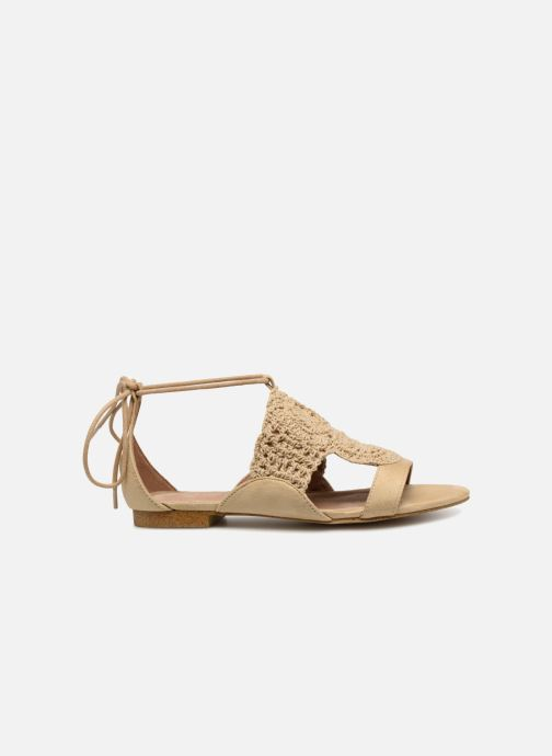Sandales et nu-pieds Monoprix Femme Sandales texturées crochet Beige vue derrière