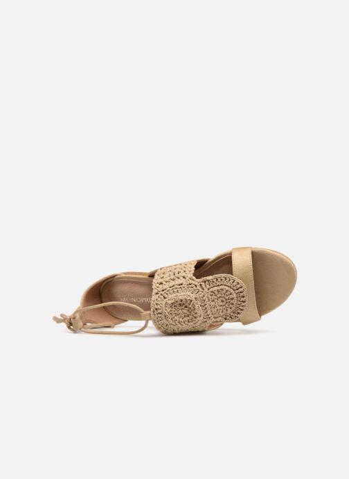 Sandales et nu-pieds Monoprix Femme Sandales texturées crochet Beige vue gauche