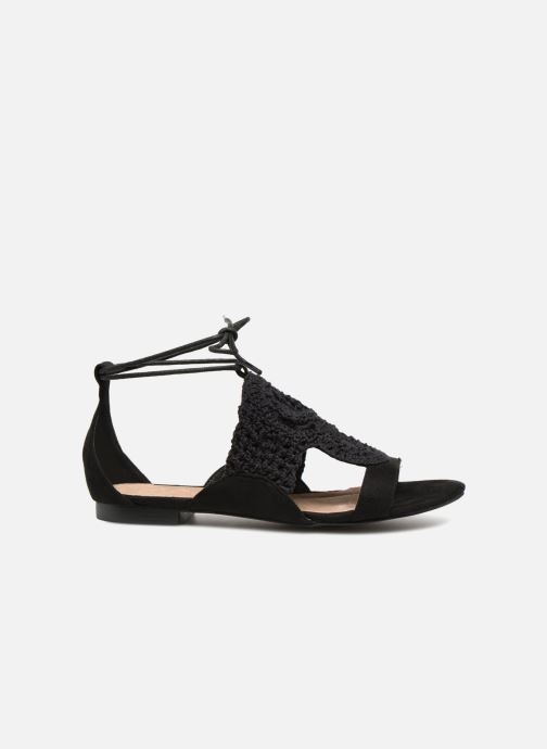 Sandales et nu-pieds Monoprix Femme Sandales texturées crochet Noir vue derrière