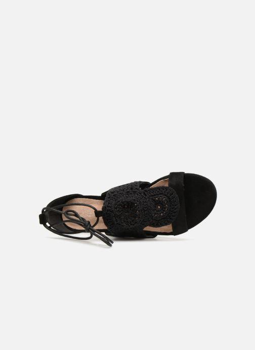Sandales et nu-pieds Monoprix Femme Sandales texturées crochet Noir vue gauche