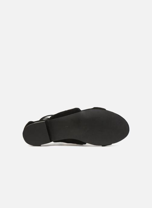Sandales et nu-pieds Monoprix Femme Sandales texturées crochet Noir vue haut