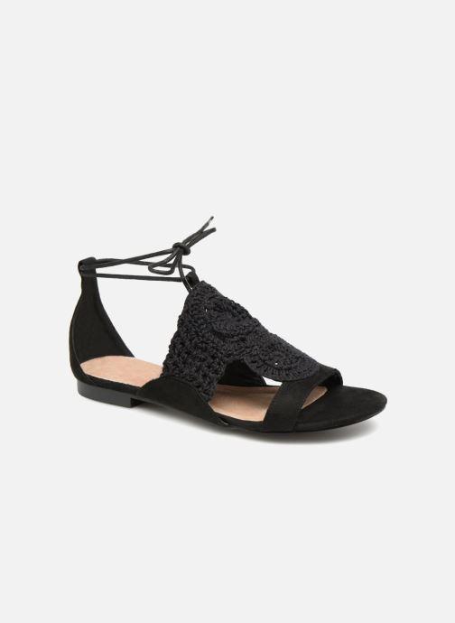 Sandales et nu-pieds Monoprix Femme Sandales texturées crochet Noir vue détail/paire