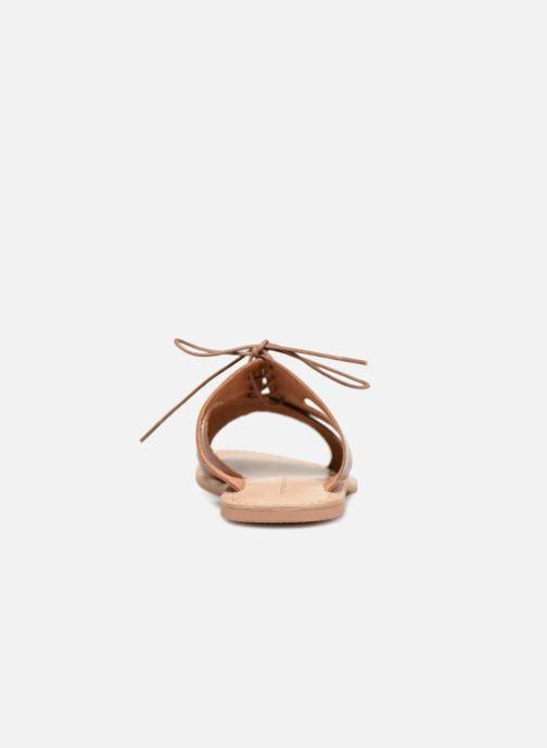 Mules et sabots Monoprix Femme Sandales à lacets en cuir Marron vue droite