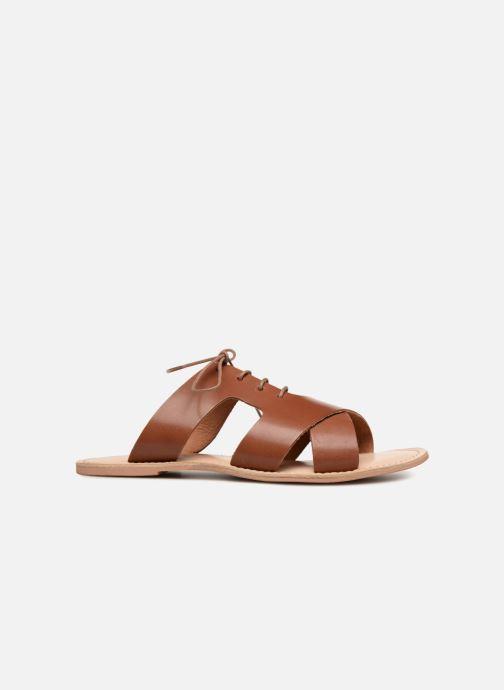Zuecos Monoprix Femme Sandales à lacets en cuir Marrón vistra trasera