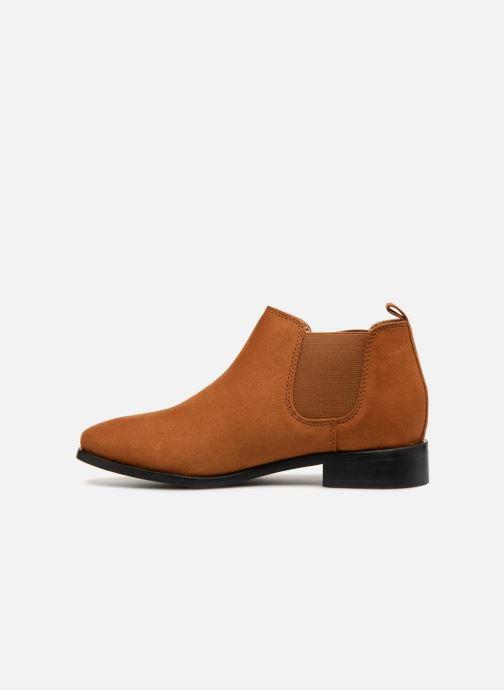 Boots en enkellaarsjes Monoprix Femme Boots en suedées Bruin voorkant