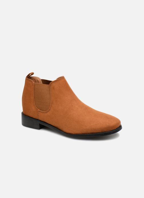 Bottines et boots Monoprix Femme Boots en suedées Marron vue détail/paire