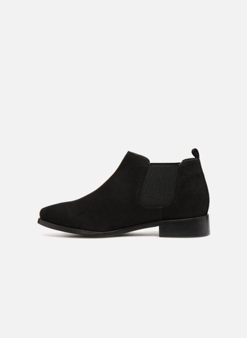 Bottines et boots Monoprix Femme Boots en suedées Noir vue face