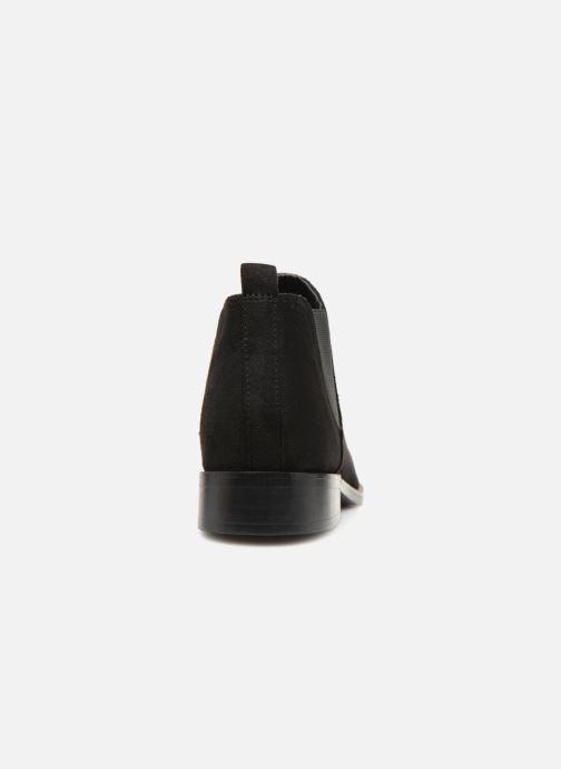 Bottines et boots Monoprix Femme Boots en suedées Noir vue droite