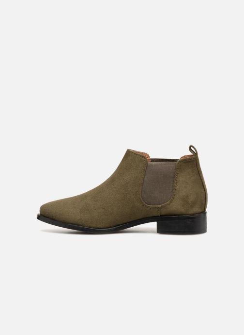 Bottines et boots Monoprix Femme Boots en suedées Vert vue face