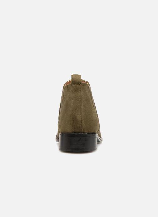 Bottines et boots Monoprix Femme Boots en suedées Vert vue droite