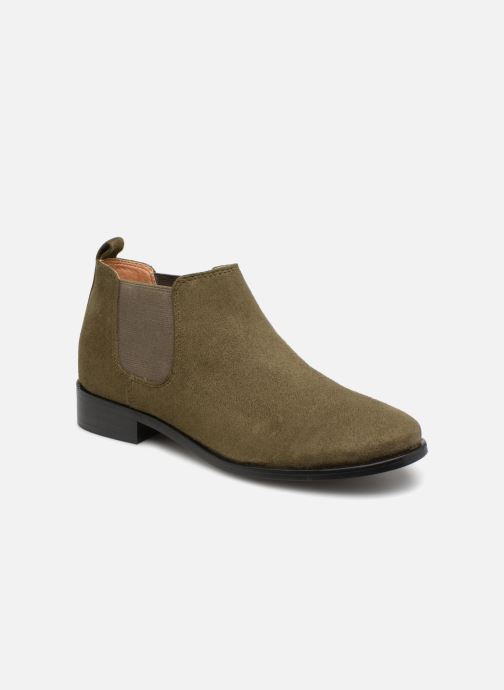Bottines et boots Monoprix Femme Boots en suedées Vert vue détail/paire