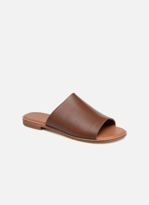 chaussures de course large choix de designs différemment Claquettes en cuir détail clous