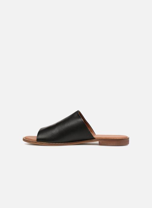 Mules & clogs Monoprix Femme Claquettes en cuir détail clous Black front view