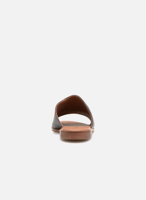 Mules & clogs Monoprix Femme Claquettes en cuir détail clous Black view from the right
