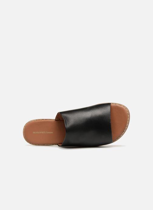 Mules et sabots Monoprix Femme Claquettes en cuir détail clous Noir vue gauche