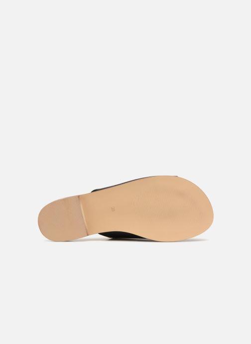 Mules & clogs Monoprix Femme Claquettes en cuir détail clous Black view from above