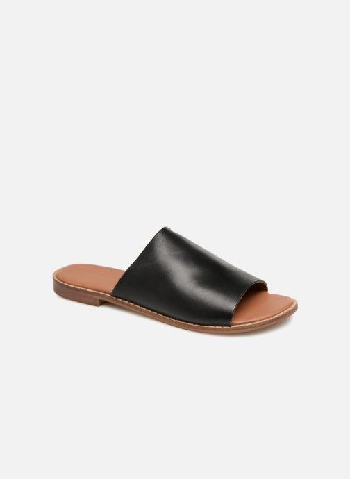 Mules & clogs Monoprix Femme Claquettes en cuir détail clous Black detailed view/ Pair view