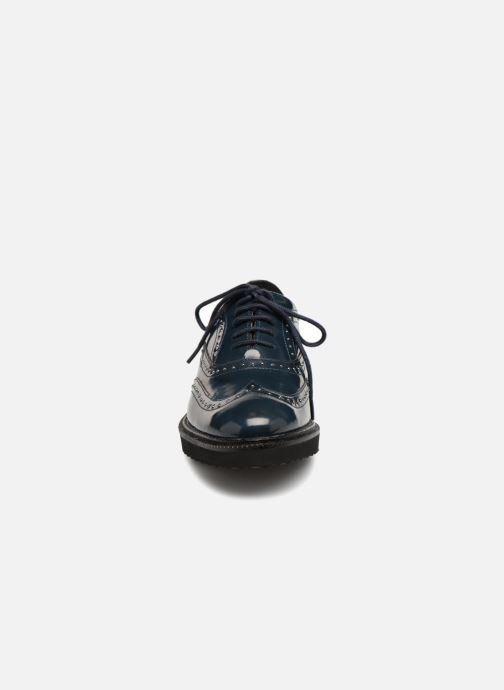 Chaussures à lacets Monoprix Femme Derby en cuir Bleu vue portées chaussures