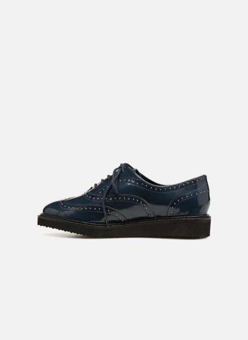 Lace-up shoes Monoprix Femme Derby en cuir Blue front view