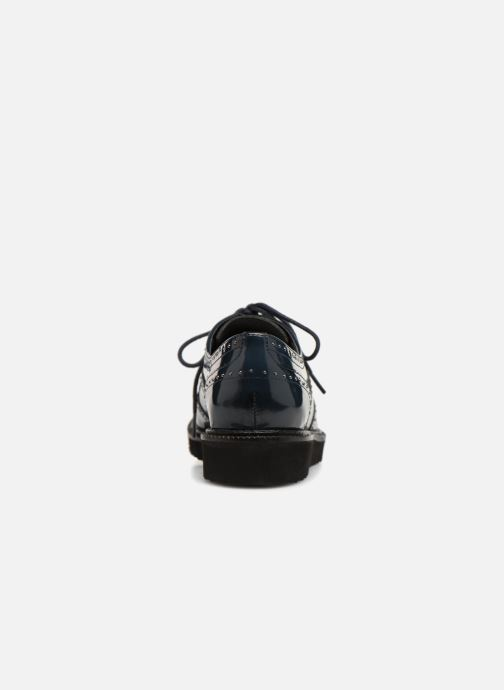 Chaussures à lacets Monoprix Femme Derby en cuir Bleu vue droite