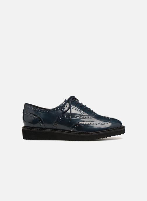 Chaussures à lacets Monoprix Femme Derby en cuir Bleu vue derrière