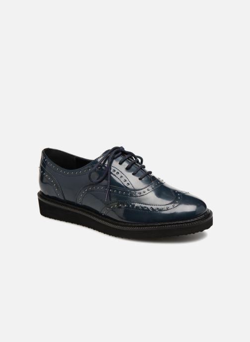 Lace-up shoes Monoprix Femme Derby en cuir Blue detailed view/ Pair view