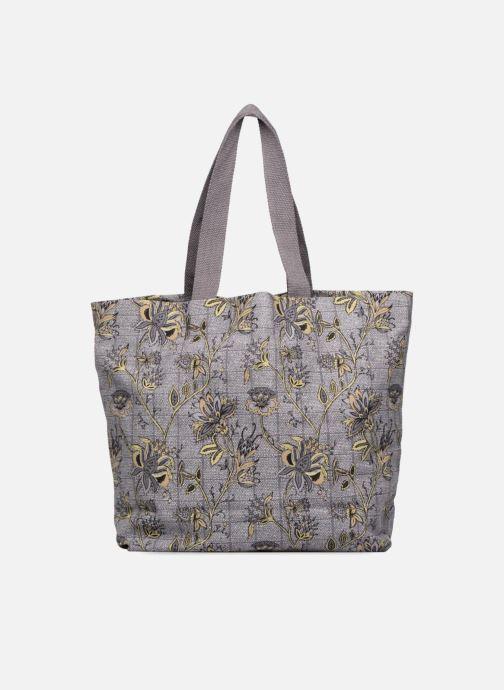Handtassen Monoprix Femme Tote-bag imprimé fleurs Paars voorkant