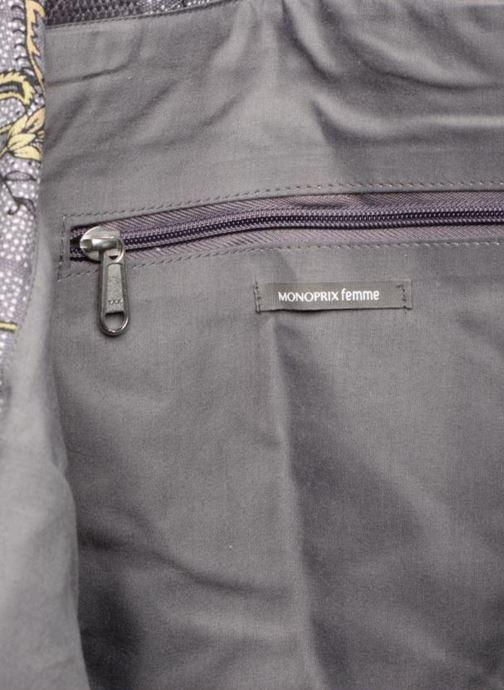 Handtassen Monoprix Femme Tote-bag imprimé fleurs Paars achterkant