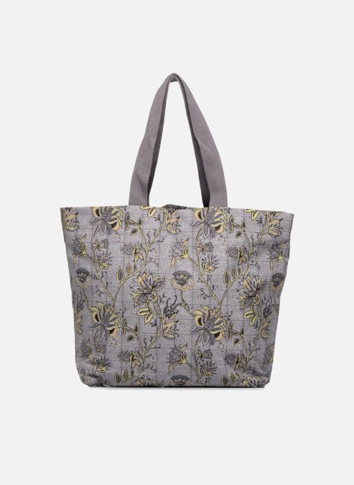 Handtassen Monoprix Femme Tote-bag imprimé fleurs Paars detail