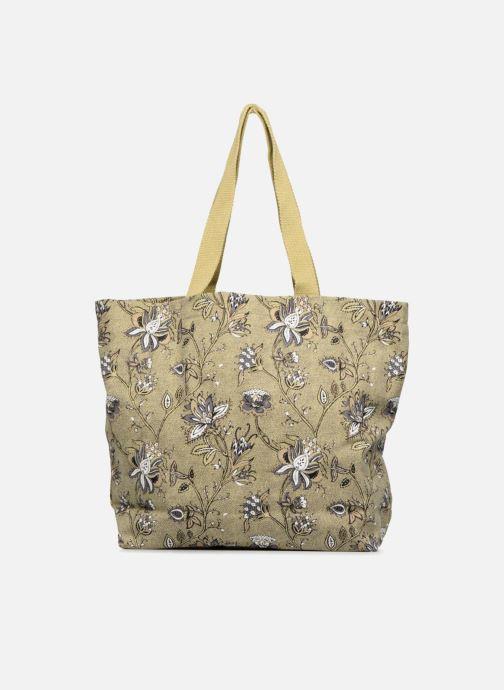 Sacs à main Monoprix Femme Tote-bag imprimé fleurs Jaune vue face