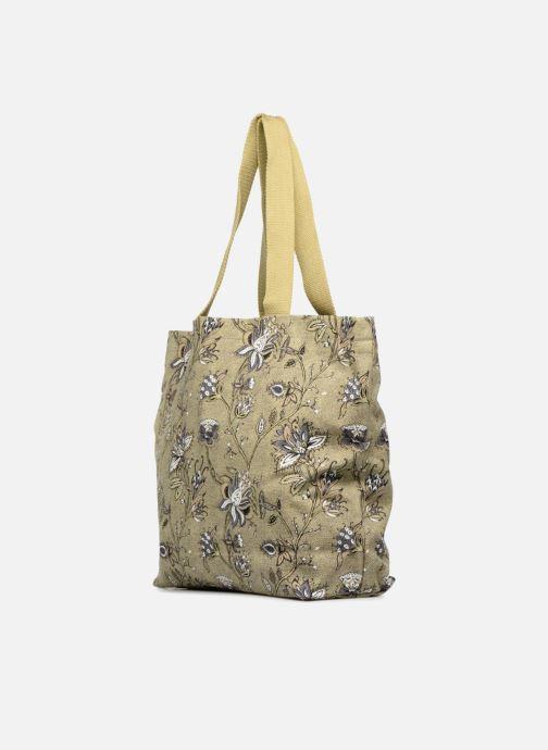 Sacs à main Monoprix Femme Tote-bag imprimé fleurs Jaune vue droite