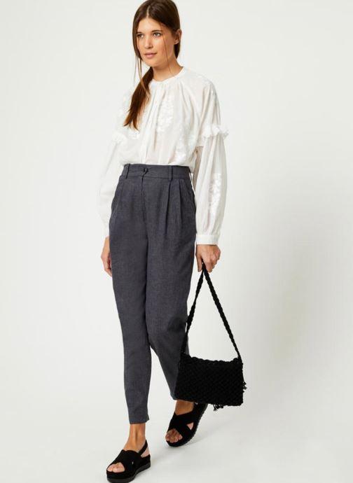 Handtassen Monoprix Femme Sac crochet à franges Zwart onder