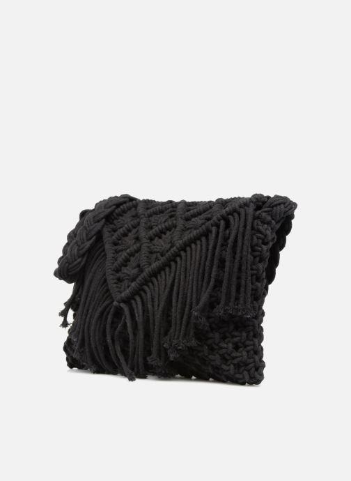 Handtassen Monoprix Femme Sac crochet à franges Zwart model
