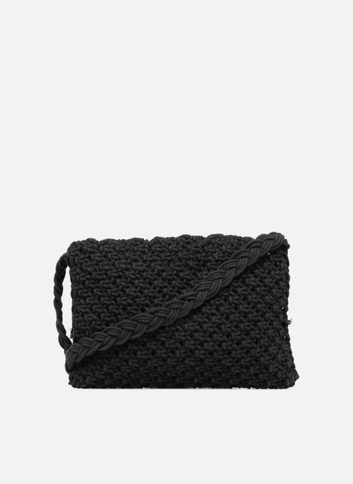 Handtassen Monoprix Femme Sac crochet à franges Zwart voorkant
