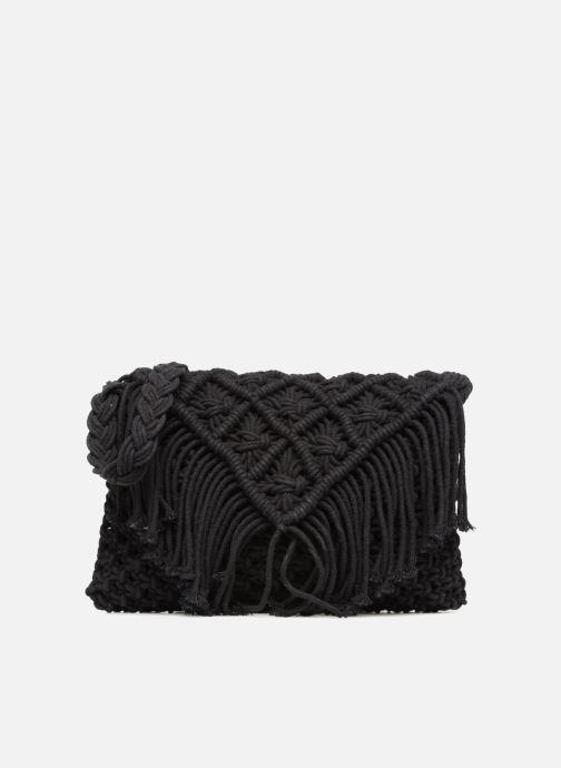 Handtassen Monoprix Femme Sac crochet à franges Zwart detail