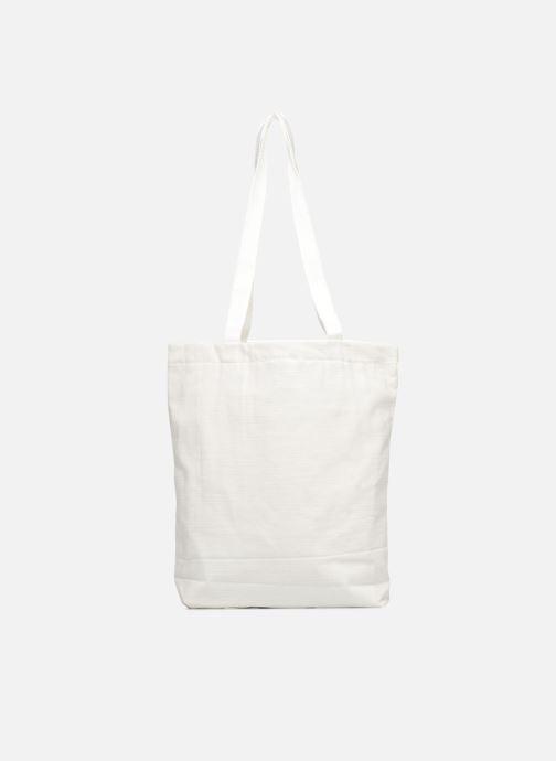Sacs à main Monoprix Femme Tote-bag brodé fleurs Blanc vue face