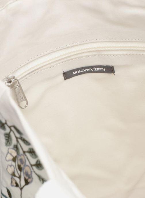 Sacs à main Monoprix Femme Tote-bag brodé fleurs Blanc vue derrière