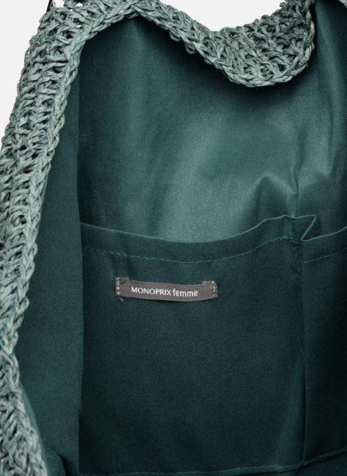 Sacs à main Monoprix Femme Cabas macramé en rafia Vert vue derrière