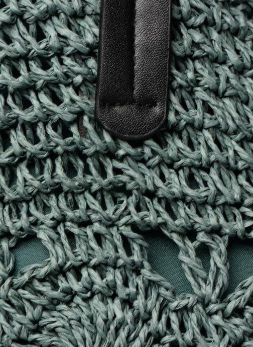 Sacs à main Monoprix Femme Cabas macramé en rafia Vert vue gauche