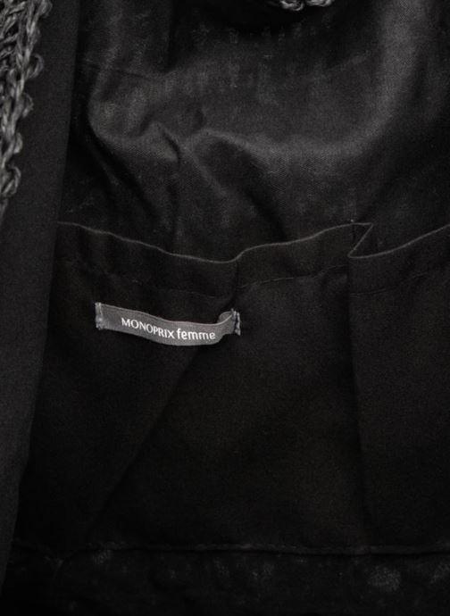 Sacs à main Monoprix Femme Cabas macramé en rafia Noir vue derrière