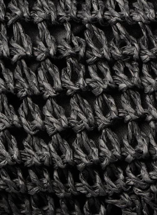 Sacs à main Monoprix Femme Cabas macramé en rafia Noir vue gauche
