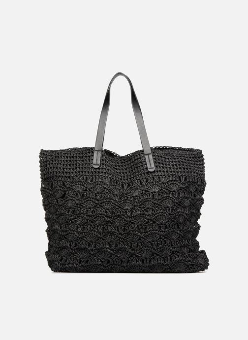 Sacs à main Monoprix Femme Cabas macramé en rafia Noir vue détail/paire