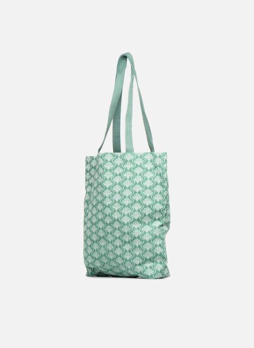 Sacs à main Monoprix Femme Tote-bag imprimé Vert vue portées chaussures